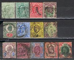 (GB 134) GREAT BRITAIN // YVERT 106,106a),107,108,109,110,111,112,113,114,115,116,117 // 1902-10 - 1902-1951 (Kings)