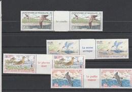 Saint Pierre Et Miquelon  Yvert  PA 72 à 75 ** PAIRE Avec VIGNETTE - Oiseaux - Airmail