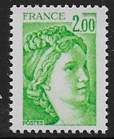 Sabine N° 1977b ** - Sans Phosphore Gomme Brillante . Signé Calves - Cote : 20 € - 1977-81 Sabine Of Gandon