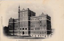 Sherbrooke Québec - B&W - Séminaire Saint-Charles - A.Z. Pinsonneault - Written 1906 (?) - 2 Scans - Sherbrooke