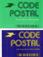 POSTE & FACTEURS 7 : Lot De 3 Cartes Code Postal Mot De Passe De Votre Courrier - Postal Services