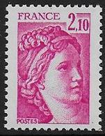Sabine N° 1978b ** - Sans Phosphore Gomme Brillante . Signé Calves - Cote : 40 € - 1977-81 Sabine Of Gandon