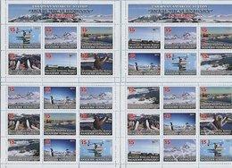 Ukraine Stamps Private Issue Ukrainian Antarctic Station Akademik Vernadsky 15 Years. Fauna Penguins. Animals Birds 2011 - Fantasy Labels