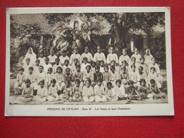 """SRI LANKA - MISSION DE CEYLAN - """" LES SOEURS ET LEURS ORPHELINES , PETITES FILLES """" - Sri Lanka (Ceylon)"""