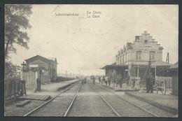 +++ CPA - Oosterzele - SCHELDEWINDEKE - La Gare - Statie - Carte Animée   // - Oosterzele