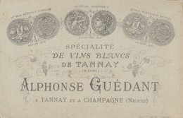 Champagne Tannay (Nièvre) - A.Guédant  Spécialité De Vins Blancs - Cartes De Visite