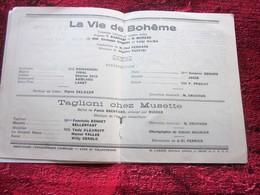 WW2 1944/45 PROGRAMME OPÉRA DE LYON-VIE DE BOHÊME - TAGLIONI CHEZ MUSETTE-PUBS-SPECTACLES PENDANT LA GUERRE 5 NOV 44 - Programmes