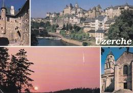 19 - UZERCHE - Porte Bécharie, La Ville Avec Tours à échauguettes Et Toits à Poivrières Et L'Eglise St Pierre - Uzerche