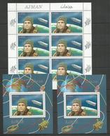AJMAN - MNH - Space - Gagarin - Red Overprint - Space