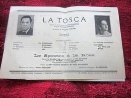 WW2 1944/45 PROGRAMME OPÉRA DE LYON-LA TOSCA - LE SPECTRE A LA ROSE -PUBS-SPECTACLES PENDANT LA GUERRE 14 NOV 44 - Programmes