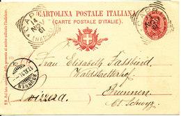 Italy Carte Postale Postal Stationery Sent To Switzerland Capri 14-11-1901 - 6. 1946-.. Repubblica