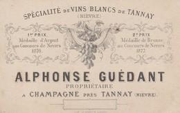 Champagne Tannay (Nièvre)  A.Guédant ( Nièvre ) - Spécialité Des Vins Blancs - Cartes De Visite