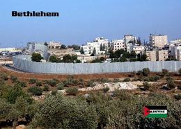 Palestine Bethlehem City Wall New Postcard Palästina AK - Palästina