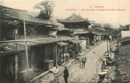 TONKIN   Yunnan  MONG-TZEU Rue Principale De Sing-gnan-soo-      INDO,328 - Vietnam