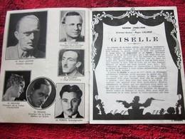 WW2 1943/44 PROGRAMME OPÉRA DE LYON- BALLET DE GISÈLE -LA VALSE-PUBS-SPECTACLES PENDANT LA GUERRE .... - Programmes
