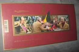 Blok 208** Z.M. Koning Albert II 20 Jaar Op De Troon 4350/51** Les 20 Ans De Règne De S.M. Le Roi Albert II - Blocs 1962-....