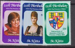 St. Kitts - Diana Set MNH - St.Kitts E Nevis ( 1983-...)