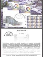100th Anniversary Of Metrosertt Estonia 2019 Stamp Presentation Card (est) Mi 957 - Estonia