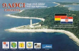 Veli Rat Dugi Otok Croatia Lighthouse Phare Leuchtturm Faro Radio Amateur Card - Faros