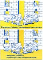 POSTE & FACTEURS 11 : Lot De 2 Cartes Changement D Adresse : Communiquez Votre Code Postal ( Humour Déménageur ) - Postal Services
