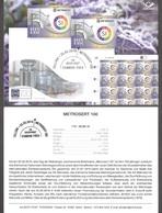 100th Anniversary Of Metrosertt Estonia 2019 Stamp Presentation Card (ger) Mi 957 - Estonia