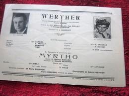 WW2 1944/45 PROGRAMME OPÉRA DE LYON- WERTHER - MYRTHO -PUBS-SPECTACLES PENDANT LA GUERRE .... - Programmes