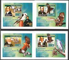 A{237} Guinea Bissau 2007 Birds Owls Eagles 4 S/S Deluxe MNH** - Guinea-Bissau