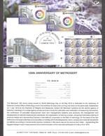 100th Anniversary Of Metrosertt Estonia 2019 Stamp Presentation Card (eng) Mi 957 - Estonia