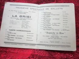 WW2 1943/44 PROGRAMME OPÉRA DE LYON-LA GRISI -RAPSODIE IN BLUE-VARIÉTÉS CHORÉGRAPHIQUE-PUBS-SPECTACLES PENDANT LA GUERRE - Programmes