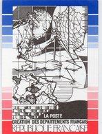 POSTE & FACTEURS 12 : La Poste Création Des Départements Français ( Gravure Du Poinçon Original De Ce Timbre 1990 - Postal Services