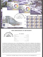 100th Anniversary Of Metrosertt Estonia 2019 Stamp Presentation Card (eng) Mi 957 - Otros