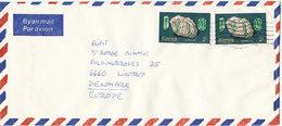 Kenya Air Mail Cover Sent To Denmark Topic Stamps - Kenya (1963-...)