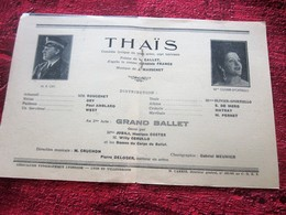 WW2 1944/45 PROGRAMME OPÉRA DE LYON-THAIS  - GRAND BALLET-VARIÉTÉS CHORÉGRAPHIQUE-PUBS-SPECTACLES PENDANT LA GUERRE - Programmes