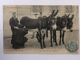 CPA Le Marchand De Lait D'Anesses, Types Méridionaux, écrite En 1906, Timbre - Marchands Ambulants