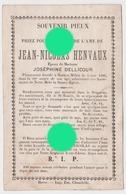 Sopnkeu Melen 1886 Mr Jean Nicolas HENVAUX époux DELLICOUR / RARE - Décès