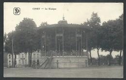 +++ CPA - CINEY - Le Kiosque - Cachet Militaire   // - Ciney