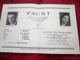 WW2 1943/44 PROGRAMME OPÉRA DE LYON-FAUST-LA NUIT DE WALPURGIS-VARIÉTÉS CHORÉGRAPHIQUE-PUBS-SPECTACLES PENDANT LA GUERRE - Programmes