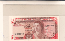 Government Of  Gibraltar One Pound 15 Sept. 1979 Pick 20b Unc. - Gibraltar