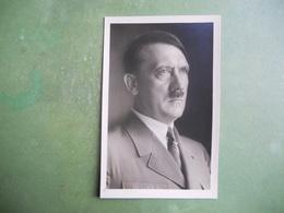 CPA ALLEMAGNE HITLER  TIMBRE OBLITERE POSTE AERIENNE N° 59 SUPERBE 1945 - Politische Und Militärische Männer