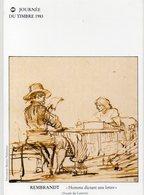 POSTE & FACTEURS 15 : Journée Du Timbre 1983 ; Rembrand Homme Dictant Une Lettre ( Musée Du Louvre ) - Postal Services