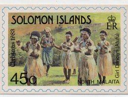 POSTE & FACTEURS 16 : Solomon Islands , North Malaita Girl Dancer ( Afufu ) Christmas 1983 ; 450 - Poste & Facteurs