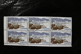 Canada Used Nice CDS Cancels Corner Block Of Six Vancouver BC Dollar Value 1972-76 A04s - Gebruikt
