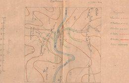 VP14.957 - MILITARIA - Maine - Et - Loire - CHOLET - Mise En état De Défense Du Pont Du CARTERON - Plan - Documents