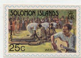 POSTE & FACTEURS 17 : Solomon Islands , Western Province , Bamboo Band ; Christmas 1983 ; 0,25 - Poste & Facteurs
