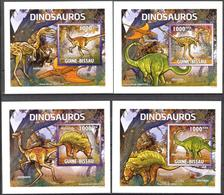 A{251} Guinea Bissau 2011 Dinosaurs 4 S/S Deluxe MNH** - Guinea-Bissau