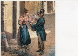 POSTE & FACTEURS 18 : La Distribution Du Courrier , Paris Rue Saint Denis Facteur Vers 1835 ( Journée Du Timbre 1993 - Postal Services