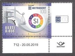 100th Anniversary Of Metrosertt Estonia 2019 MNH Corner Stamp With Issue Number Mi 957 - Estonia