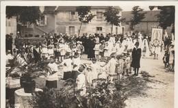 Carte Photo Mouette Juin 1929 - Souvenir 1ère Procession Fête Dieu - Personnes Anonymes