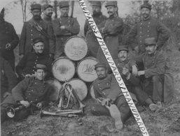 1914 / PHOTO / 282e RI ( MONTARGIS ) / TAMBOURS ET CLAIRONS / 282e RÉGIMENT D' INFANTERIE - Oorlog, Militair