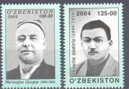 2004. Uzbekistan, Famous Persons, 2v,  Mint/** - Uzbekistan